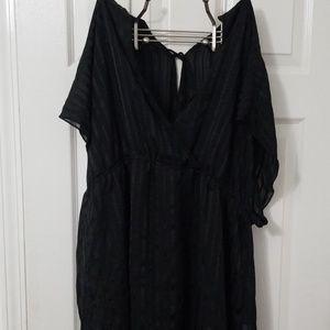 Torrid Black Sheer Top, Size 4